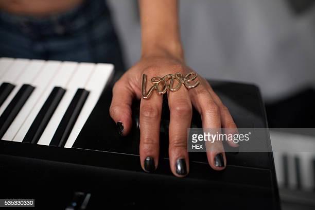 Hand on a keyboard