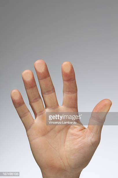 Hand on Touch Sensitive Screen