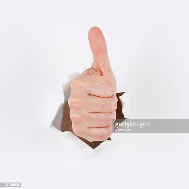 Hand on white background gesturing