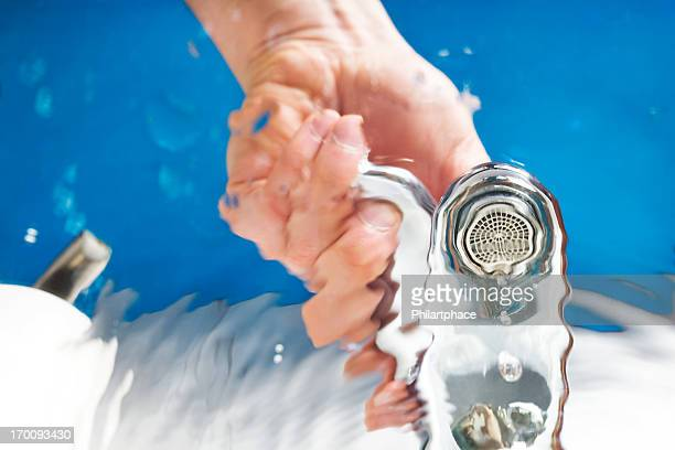 hand opening water tap