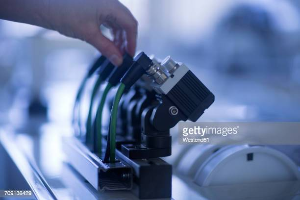 hand operating sensoric device - sensor stock pictures, royalty-free photos & images