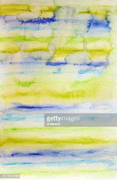 Hand painted background with vivid colors and distressed texture