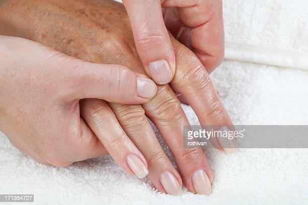Hand palm massage, peeling und Feuchtigkeitspflege Verfahren