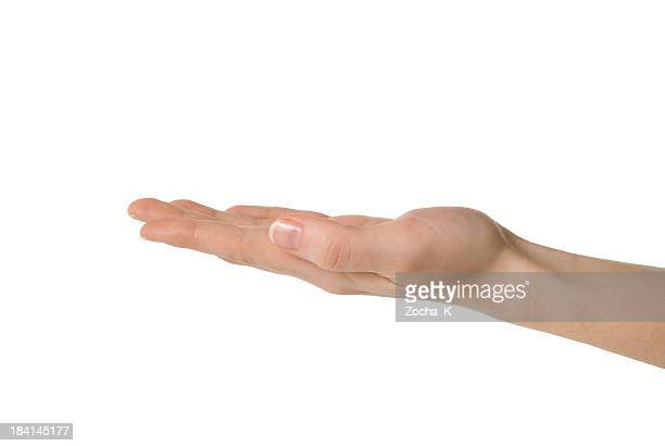 hand (clipping path included) - open hand stock pictures, royalty-free photos & images