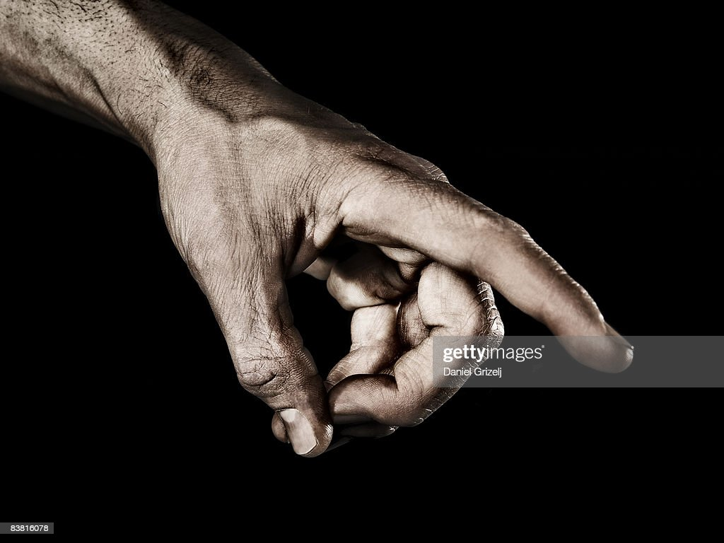 hand pointing : Stock Photo