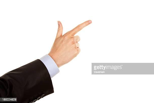Main pointant du doigt d'index