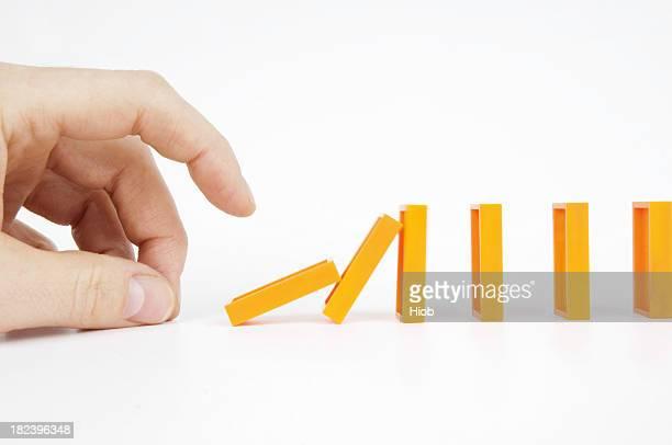 hand Schieben Domino