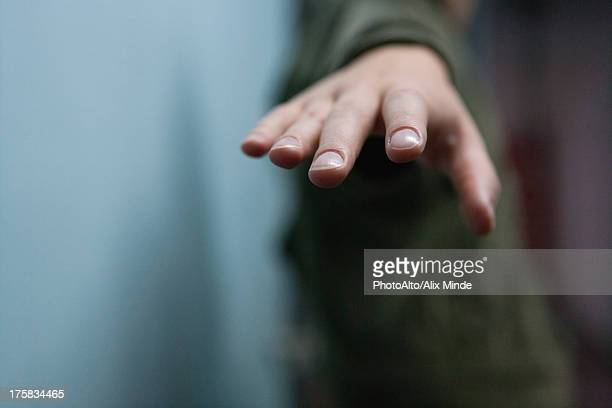 hand reaching out, cropped - reaching stock pictures, royalty-free photos & images