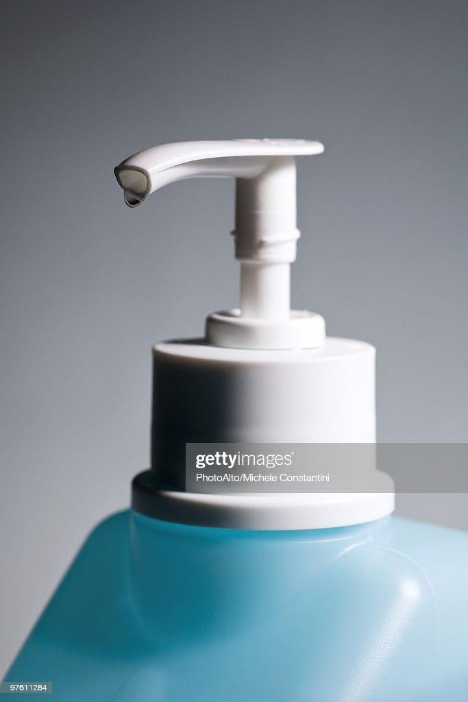Hand sanitizer in pump bottle : Stock Photo
