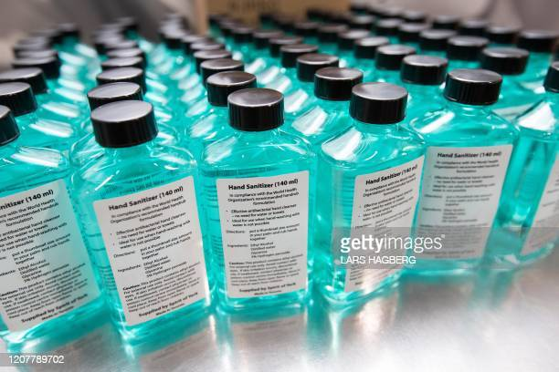 Hand sanitizers at Spirit of York distillery in Toronto Ontario on March 19 2020 The company has started to make hand sanitizers since supplies has...