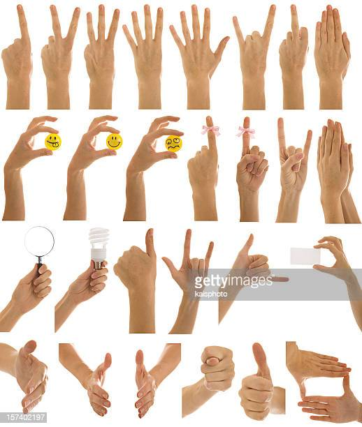 hand series - hand sign stock pictures, royalty-free photos & images