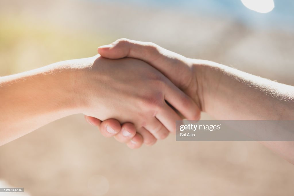 Hand shake : Stock-Foto