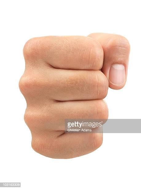 hand sign - fist - 拳 ストックフォトと画像