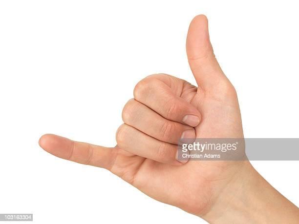 hand sign - hang loose