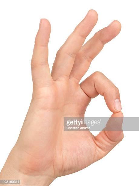 hand sign - o.k.