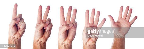 Hand Signs For One to Five