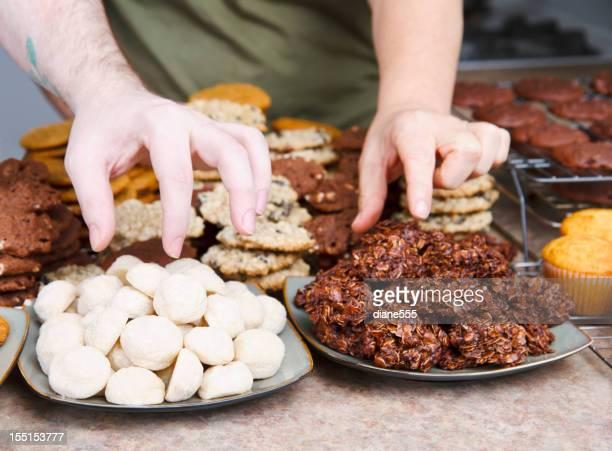 Hand Sneaking Freshly Baked Cookies