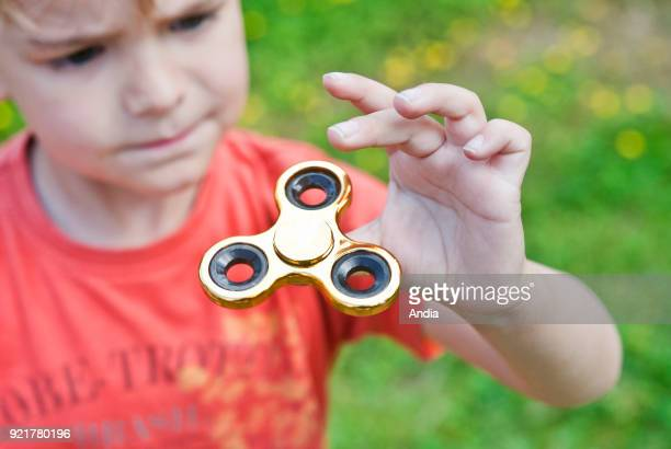 Hand Spinner also known as fidget spinner a finger toy that enhances concentration It's said to have therapeutic value and improve concentration