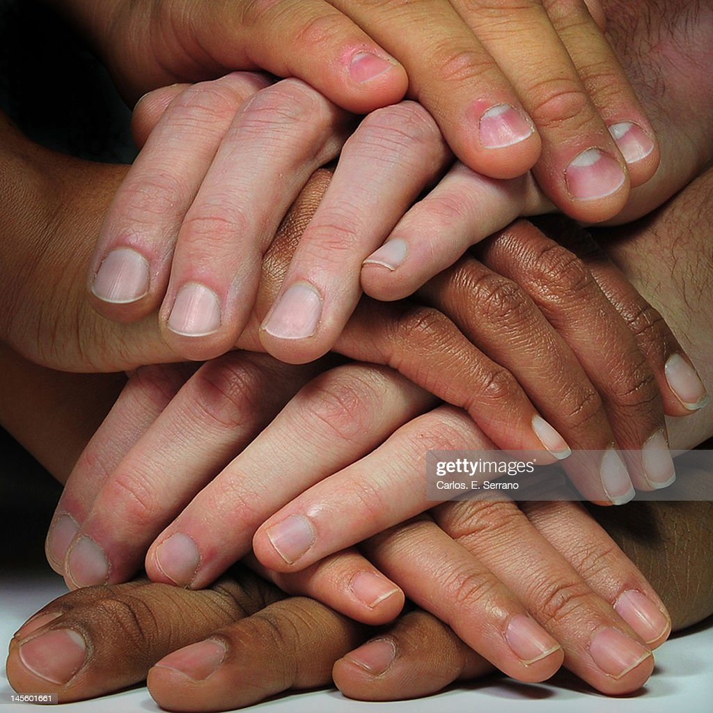 Hand stacking : Stock Photo