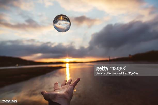 Hand Throwing Transparent Ball