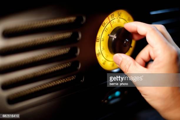 Retro radio fm de Mano mando de ajuste