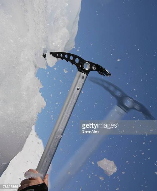 Hand using an ice axe