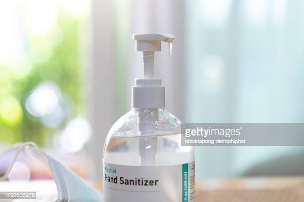hand washing gel prevents coronavirus infection,coronavirus,alcohol gel ,hand gel,face mask,hand sanitizer, wet wipe, and n95 face mask , - organised group stock pictures, royalty-free photos & images