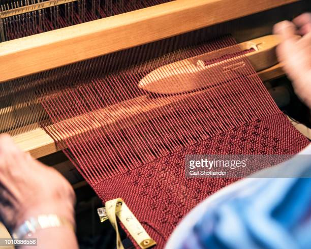 hand weaving - woven stock photos and pictures