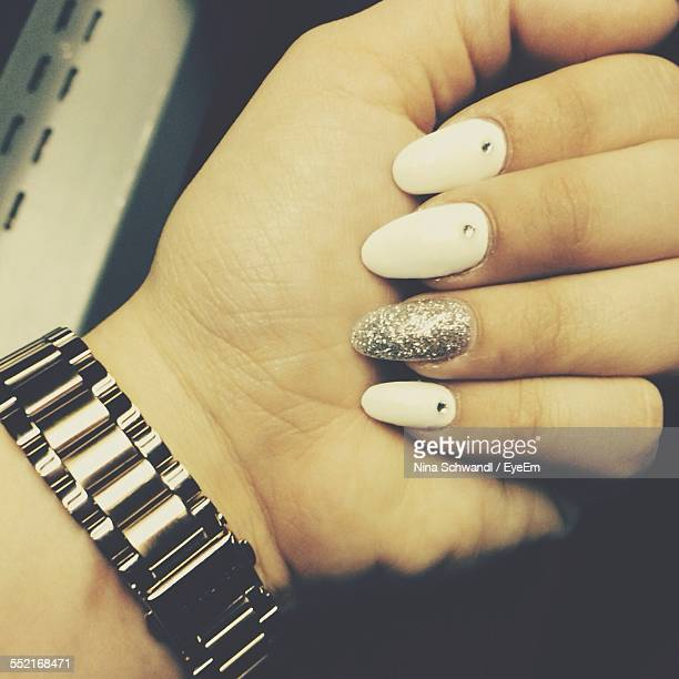 Hand With Artificial Nails