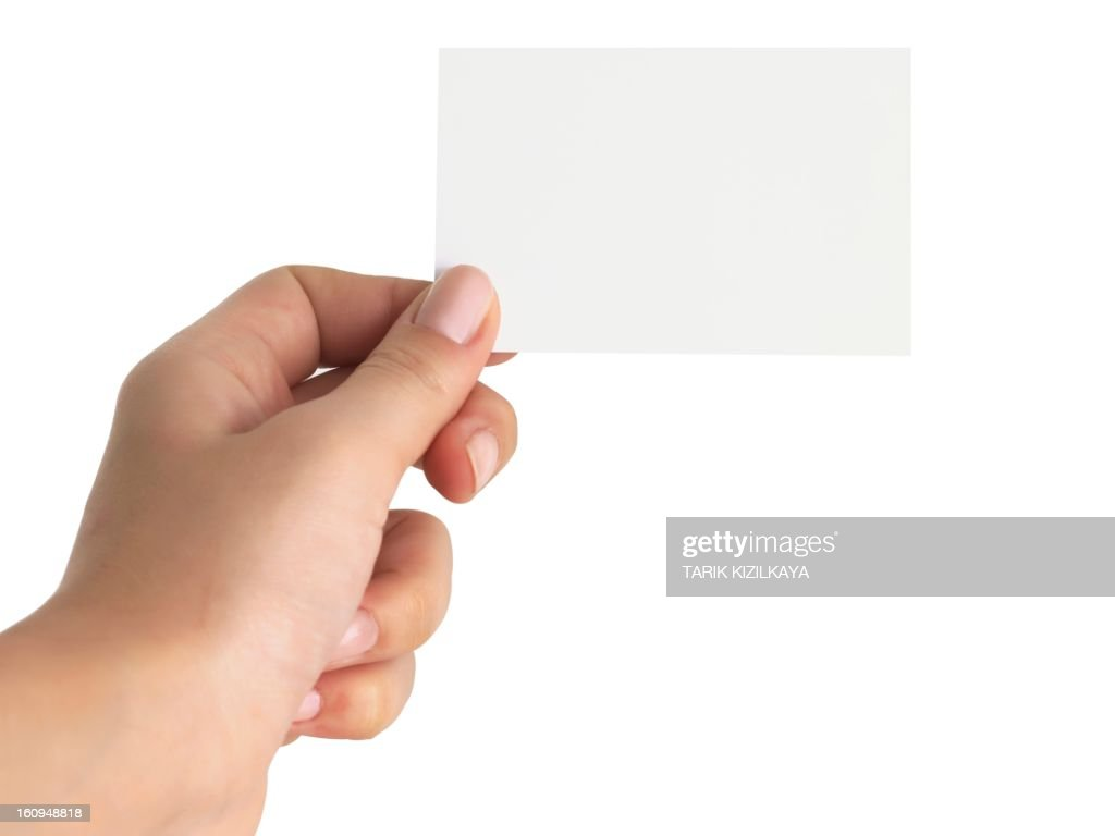 Hand With Business Card Stock Photo | Getty Images