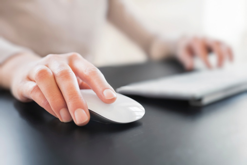 Hand with Computer Mouse 185277608