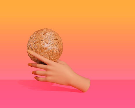 Hand with cookie - gettyimageskorea