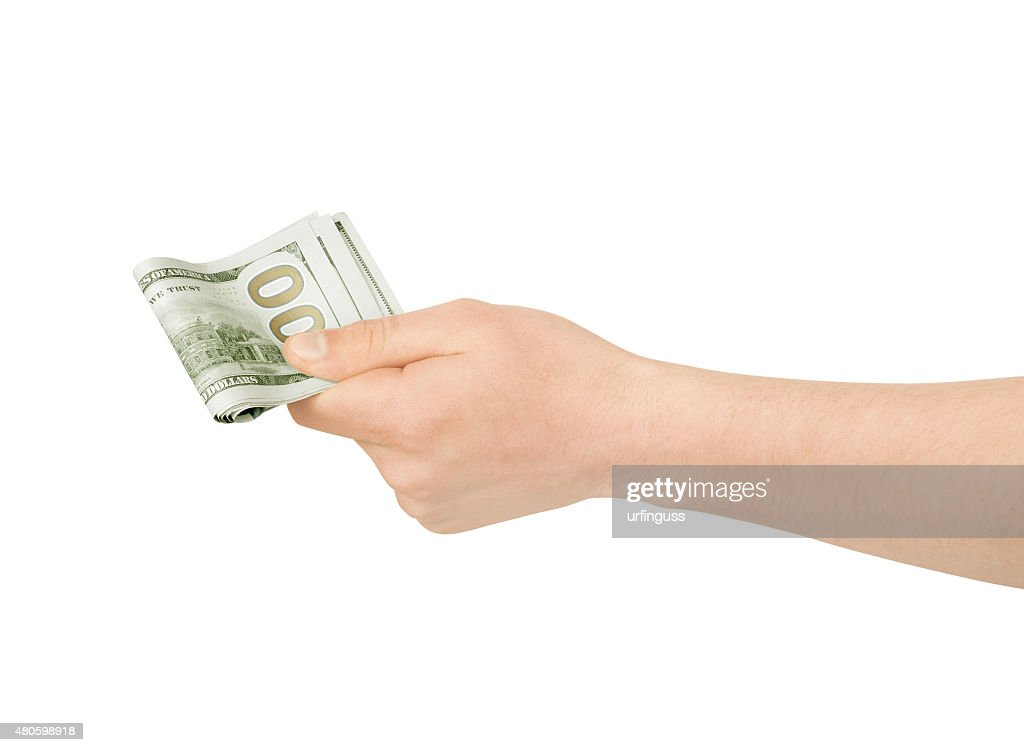 Hand with money : Stock Photo