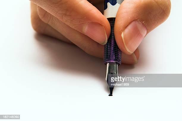 手にペン - 加入 ストックフォトと画像