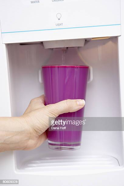 Hand with water dispenser