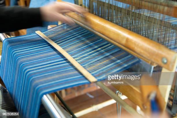 手で編まれた、京都 - 繊維工業 ストックフォトと画像