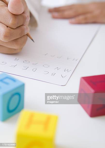 Hand writing alphabets