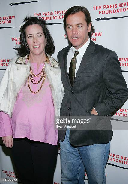 Handbag designer Kate Spade and husband Andy Spade attend The Paris Review Foundation Presents Fall Revel Honoring William Styron at Cipriani...
