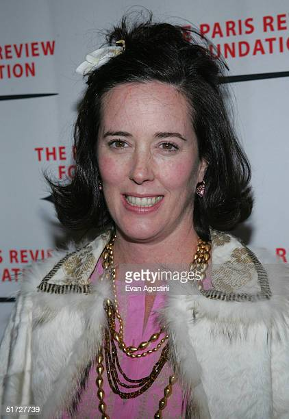 Handbag designer Kate Spade attends The Paris Review Foundation Presents Fall Revel Honoring William Styron at Cipriani November 10, 2004 in New York...