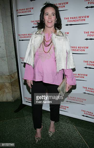Handbag designer Kate Spade attends The Paris Review Foundation Presents Fall Revel Honoring William Styron at Cipriani November 10 2004 in New York...