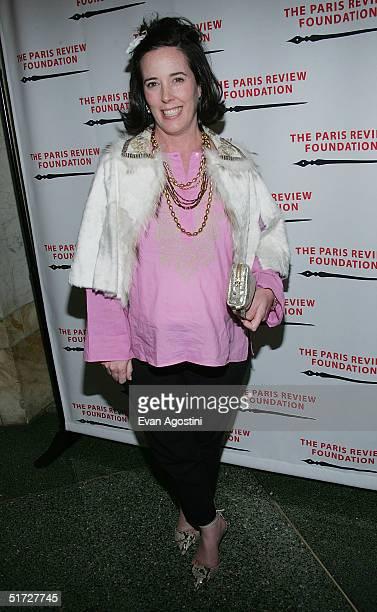 Handbag designer Kate Spade attends The Paris Review Foundation Presents Fall Revel Honoring William Styron at Cipriani November 10 2004 in New York...
