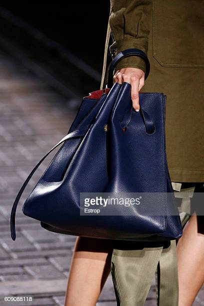 Handbag detail at the Mulberry show during London Fashion Week Spring/Summer collections 2017 on September 18 2016 in London United Kingdom