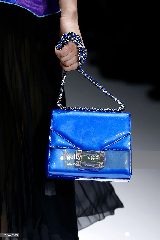 A Handbag detail at the Shiatzy Chen show as part of the Paris Fashion Week Womenswear Spring/Summer 2017 on October 4, 2016 in Paris, France.