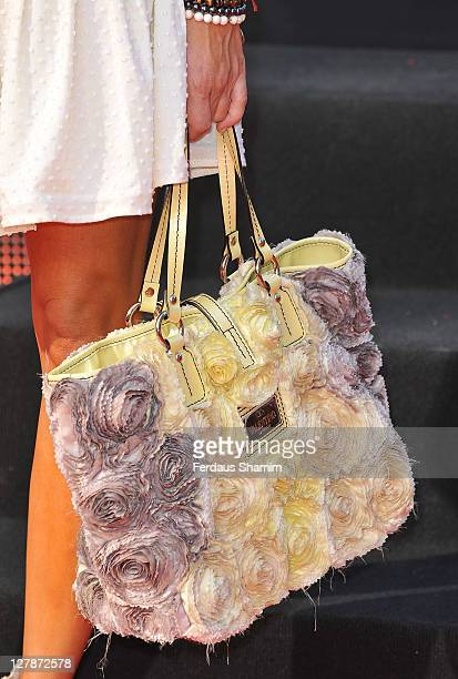 Handbag held by Elen Rivas attending the UK premiere of 'Johnny English Reborn' at Empire Leicester Square on October 2 2011 in London England
