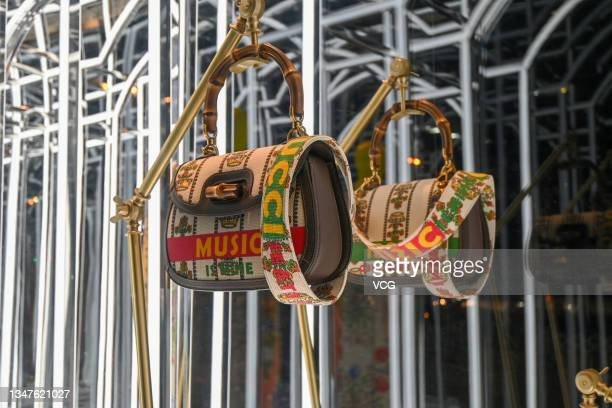 Handbag is on display at a Gucci flagship store on October 19, 2021 in Beijing, China.