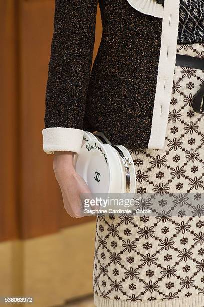 Handbag of a Model is seen as she walks the runway during the Chanel show at the 'Grand Palais' , as part of the Paris Fashion Week Womenswear...
