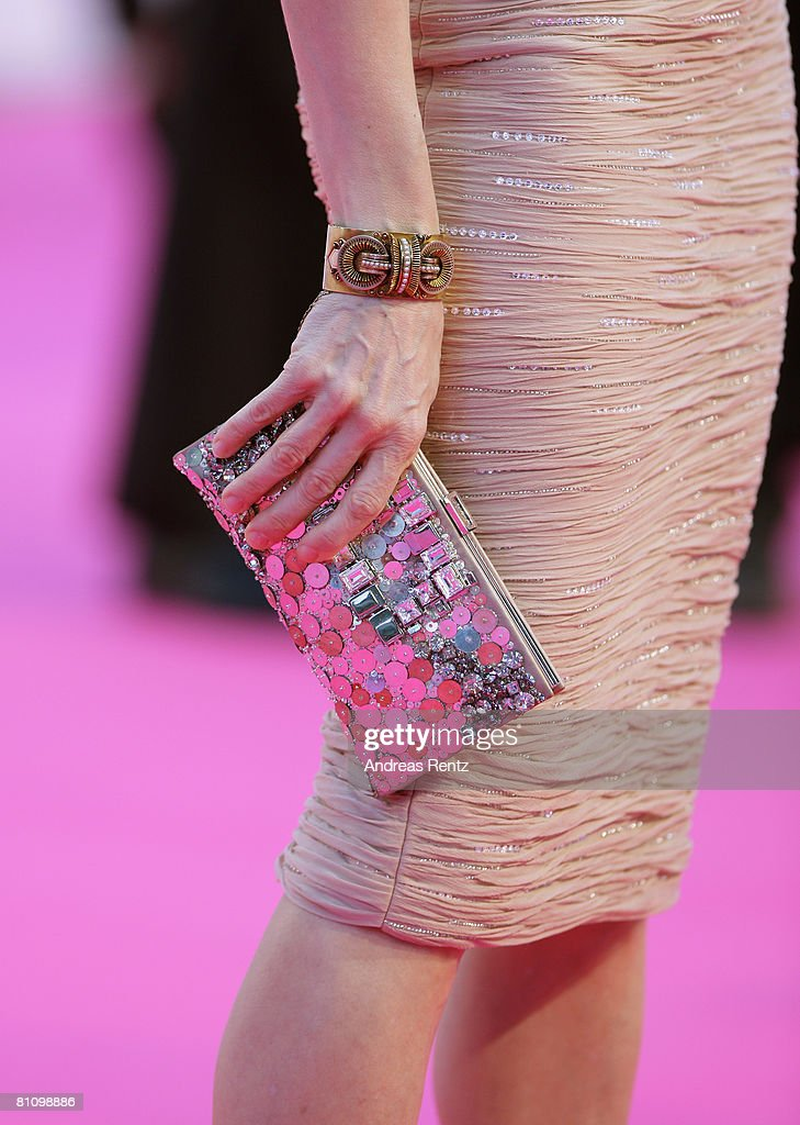 Handbag of actress Sarah Jessica Parker is seen at the German premiere of 'Sex And The City' at the cinestar on May 15, 2008 in Berlin, Germany.