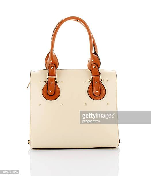 handbag - brown purse stock pictures, royalty-free photos & images