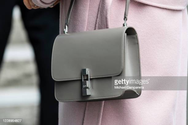 Handbag worn by Crown Princess Victoria of Sweden while attending an inauguration ceremony for a sculpture of Swedish childrens book author Astrid...