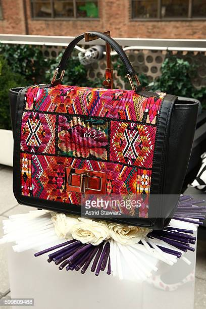 Handbags are displayed during Maria's Bag By Alida Boer Press Preview September 2016 during New York Fashion Week at Dream Downtown on September 6,...